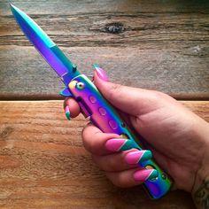 Rainbow Switch Blade from www.shopstaywild.com