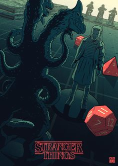 Stranger Things by Laurie Greasley - Eleven and the Demogorgon