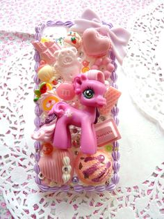 iPhone 5 My Little Pony decoden/deco cream case by CumaiSweetDeco, $40.00