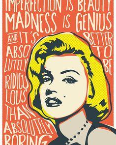 Marilyn Monroe Pop Art Quote Poster