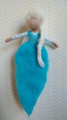 Needle Felted Elsa Frozen