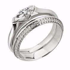 Diamond set knife edge wedding ring by www.diamondsandrings.co.uk