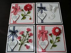 Heart and ribbon cards