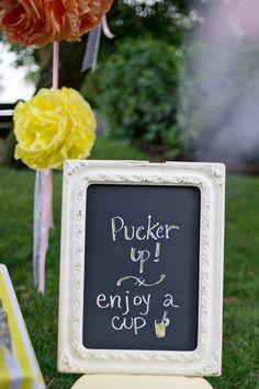 Lemonade bar sign!