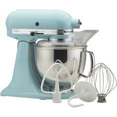 KitchenAid® Artisan Aqua Sky Stand Mixer in Mixers | Crate and Barrel