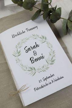 Kirchenheft Hochzeit Bluhende Liebe Trauheft Kirchliche Trauung Kirchenblatt Hochzeit In 2020 Wedding Programs Place Card Holders Wedding