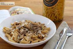 Receta de pasta con salsa de mascarpone y ternera