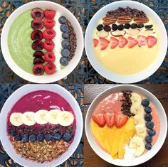 Beautiful Smoothie Bowls made with Fruit, Yoghurt & Coconut Water!