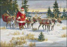My Favorite Team ~ Fine-Art Print - Christmas Art Prints and Posters - Christmas Pictures Christmas Puppy, Father Christmas, Christmas Art, Winter Christmas, Vintage Christmas, Christmas Posters, Magical Christmas, Christmas Parties, Christmas Things