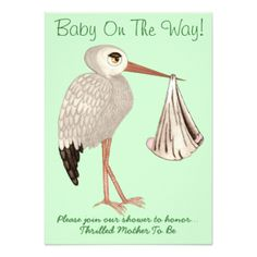 classic stork neutral 1 baby shower card