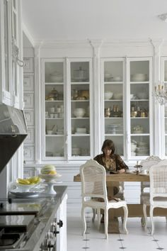 Dining room built-in style.