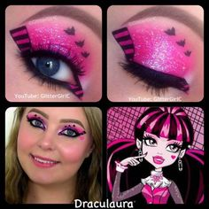 Monster High Draculaura Makeup. YouTube channel: https://www.youtube.com/user/GlitterGirlC