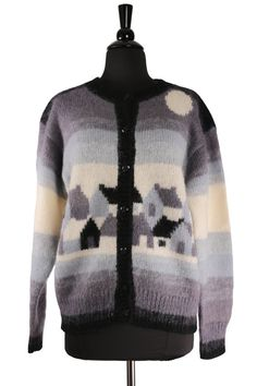 f9f708df67252 Vintage 1980's NOVARA Mohair Cardigan Sweater / by TheHoneyWitch Winter  Colors, Sweater Cardigan, 1980s
