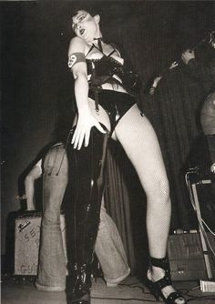 Siouxsie wearing clothing from SEX designed by Vivienne Westwood mixed with She'N'Me fetishwear, circa 1976