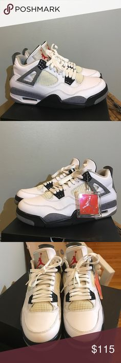 Jordan Retro 4 cement 2012 Condition 6/10. No trades. 100% Authentic. These are from 2012 release. Comes with original og box. Jordan Shoes Sneakers