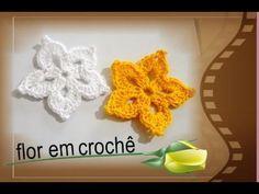 Flor e Folha em Crochê - PAP Completo # Luiza de Lugh - YouTube