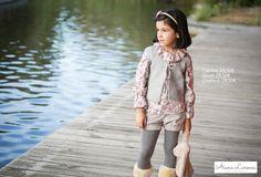 Camisa estampada, chaleco de punto y shorts de micropana para niña ya disponibles en http://aianalarocca.com/ #modainfantil