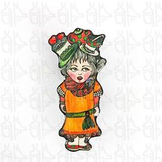 Broche personnage - Madmoizelle Brindille - Marie - Accessoires