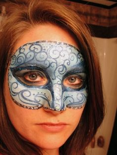 face painted masquerade mask!!!