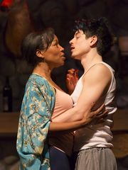 """Kyle Coffman and JoAnna Rhinehart star as a man and woman in a complicated one-night stand in """"Sex With Strangers"""" at George Street Playhouse in New Brunswick. (Photo: ~Courtesy of George Street Playhouse)"""