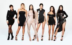 Promotional photo of Kendall, Kris, Khloe, Kim, Kourtney and Kylie for KUWTK.