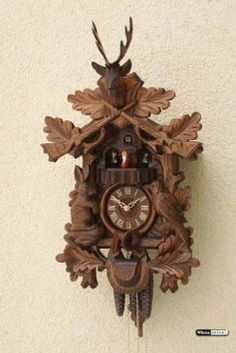 Amazon.com: German Cuckoo Clock 8-day-movement Carved-Style 31 inch - Authentic black forest cuckoo clock by Rombach & Haas: Home & Kitchen