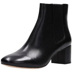 Clarks Orabella Anna Ankle Boot ($105) ❤ liked on Polyvore featuring shoes, boots, ankle booties, clarks booties, black booties, black ankle boots, black chelsea boots and black rain boots