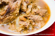 Mojo Pork - 4 ingredients and a Crockpot!  Gotta try this one soon too!