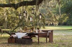 Gorgeous outdoor setting.  Orton Plantation - Wrightsville Beach Magazine
