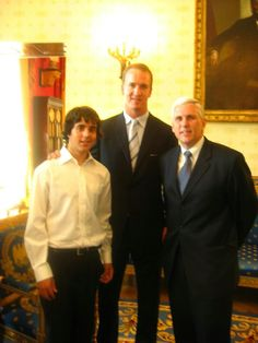 Peyton Manning with Mike Pence