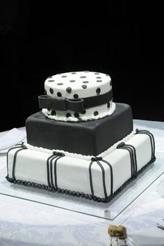 black and white Teen Girl Parties, Party Cakes, White Photography, Sweet 16, Cake Ideas, Polka Dot, Gowns, Thoughts, Black And White