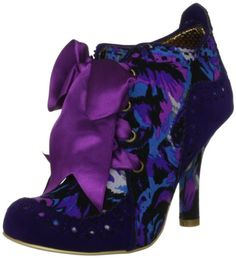 Irregular Choice Abigail's Party Purple Multi Gold Suede Fabric New Womens Boots Shoes-3: Amazon.co.uk: Shoes  Bags