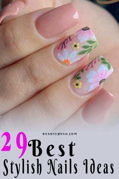 Nail Polish Designs, Cool Nail Designs, Karma Nails, Floral Nail Art, Nail Art Videos, Beautiful Nail Art, Creative Nails, Stylish Nails, Nail Trends