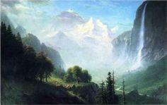 Staubbach Falls, Near Lauterbrunnen, Switzerland - Albert Bierstadt