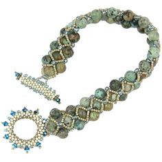 crystal bead weave bracelet - love the different bead colours and embellished loop!