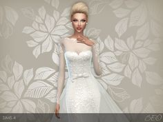 Wedding dress 28 for The Sims 4 (1)