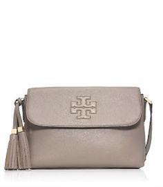beautiful grey Tory Burch bag