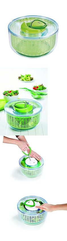 Colanders Strainers and Sifters 20636: Zyliss Easy Spin Salad Spinner, Large, Green, Bpa Free -> BUY IT NOW ONLY: $34.22 on eBay!