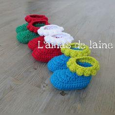 Bubble baby booties pattern by Sandra La Madeleine - C