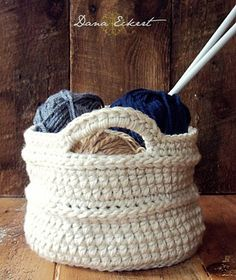 Dana Eckert pattern for diy crochet baskets