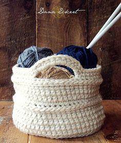 Dana Eckert pattern for diy crochet baskets