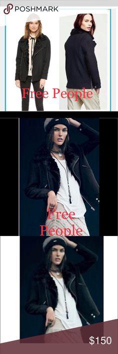NWOT Black Free People Jacket, Size Large NWOT Black Free People Jacket, Size Large Free People Jackets & Coats Pea Coats