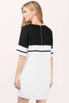 Shift Dresses Fit Every Figure! Tobi's updated line of shift dresses come in all the colors and designs you'll ever need to rep your wardrobe! White Shift Dresses, Ivory Dresses, Swing Dress, Dress Skirt, Gingham Dress, Couture, My Style, Outfits, Dress Black