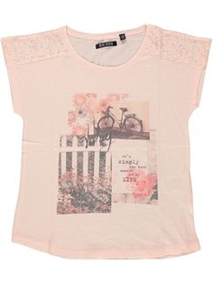 BLUE SEVEN (Teens) shirt 'flower garden' (oud roze)