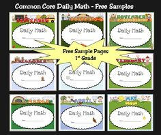 Free sample pages from Daily Math for 1st Grade.