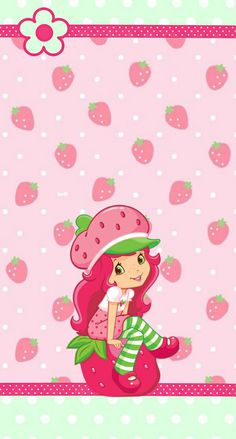 Strawberry Background Sassy Wallpaper Shortcake Fairytale Wall Papers Stationery Store Phone Wallpapers Fairy Tail Fairytail