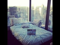 Skyline view from bed