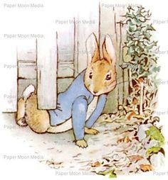 Large Nursery Digital Print From Beatrix Potter: Peter by joapan