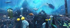 3Deek voor 3D design is ook verantwoordelijk voor de prachtige onderwaterwereld in de lift van De Telefooncentrale