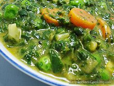www.easy-indian-cooking.com/spinach-palak-vegetable-curry/  Before telling you the recipe of easy Indo-German Palak (Spinach) Vegetable recipe, one should know the health benefits of the food, which we are eating on regular basis. Spinach is one amon